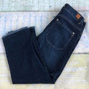 Wit & Wisdom Frayed Hem Capri Crop Jeans 6 Cotton